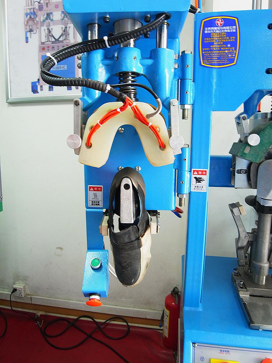 machine molding cold footwear